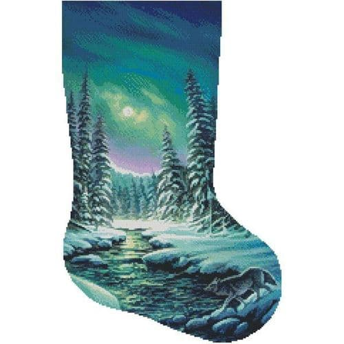 A Quiet Stroll Stocking (Right) by Artecy printed cross stitch chart